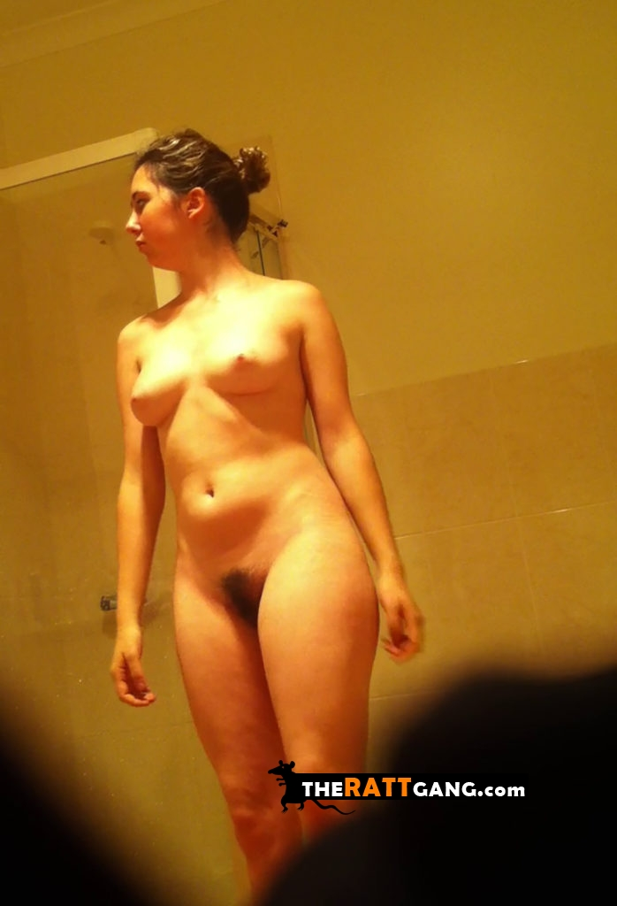 Friend's sisted caught fully nude in the bathroom by a voyeur